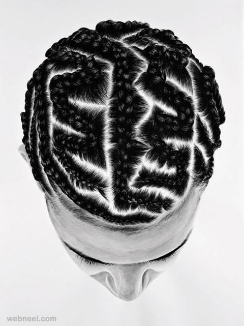 creative hair style maze