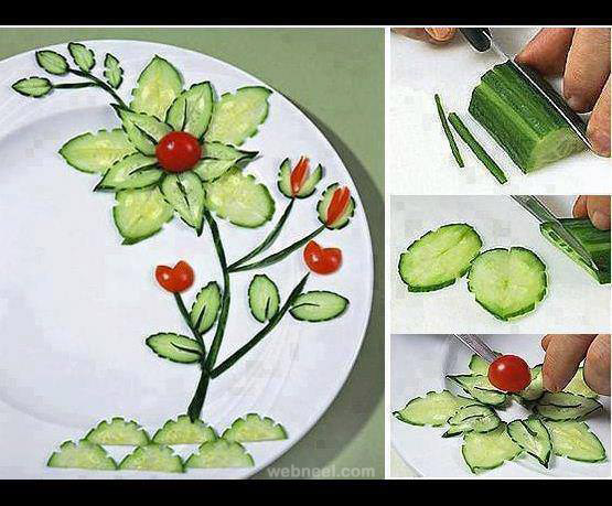 creative vegetable food art