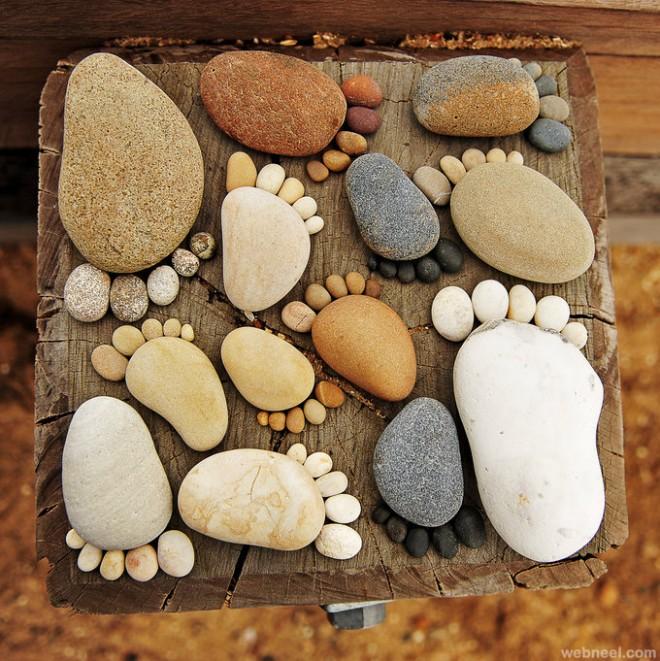 foot pebbles design