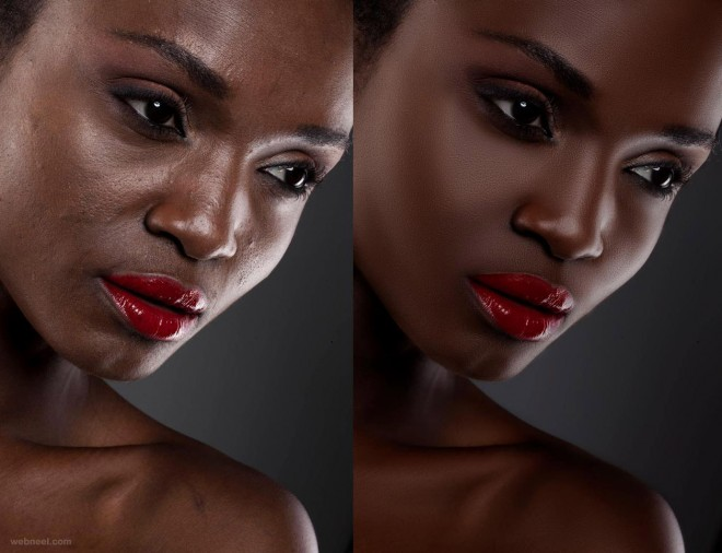 face photo retouching by phowd