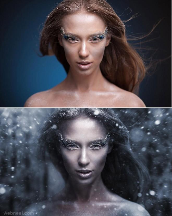 snow photo retouching by phowd