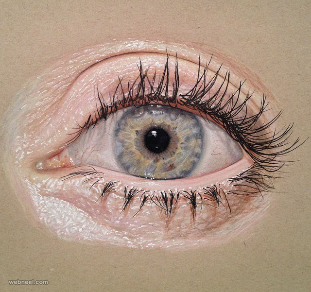 drawing of eyes jose vergara