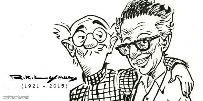 newspaper cartoon sketches by rk laxman