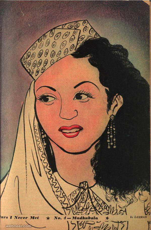 sketches of madhubala