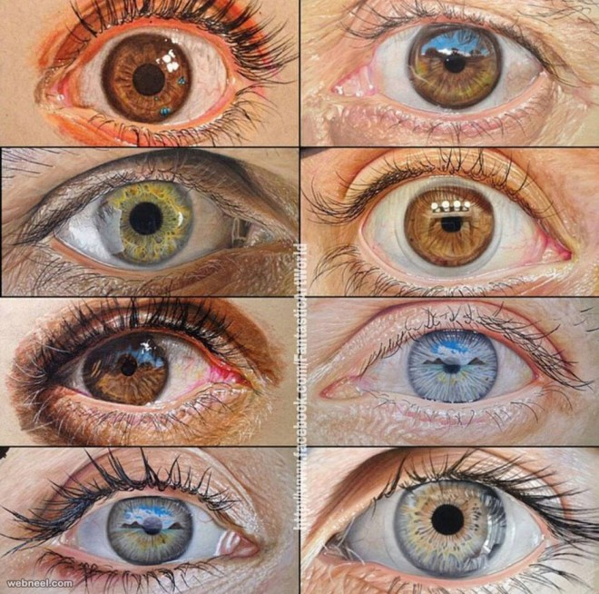 eyes color pencil drawing by kafle sun eal