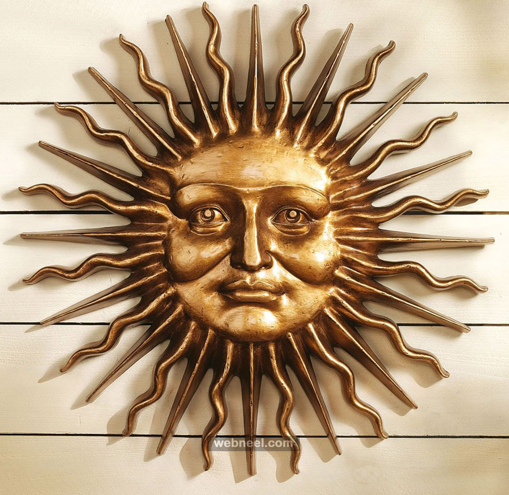 sun metal wall sculpture