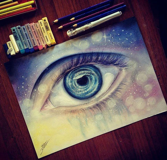 Reaslitic eye painting