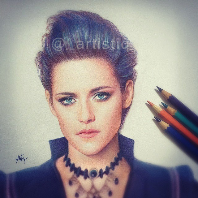 realistic woman color pencil drawing by artistiq