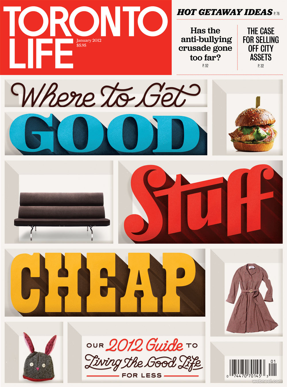 toronto life typography design by erikmarinovich