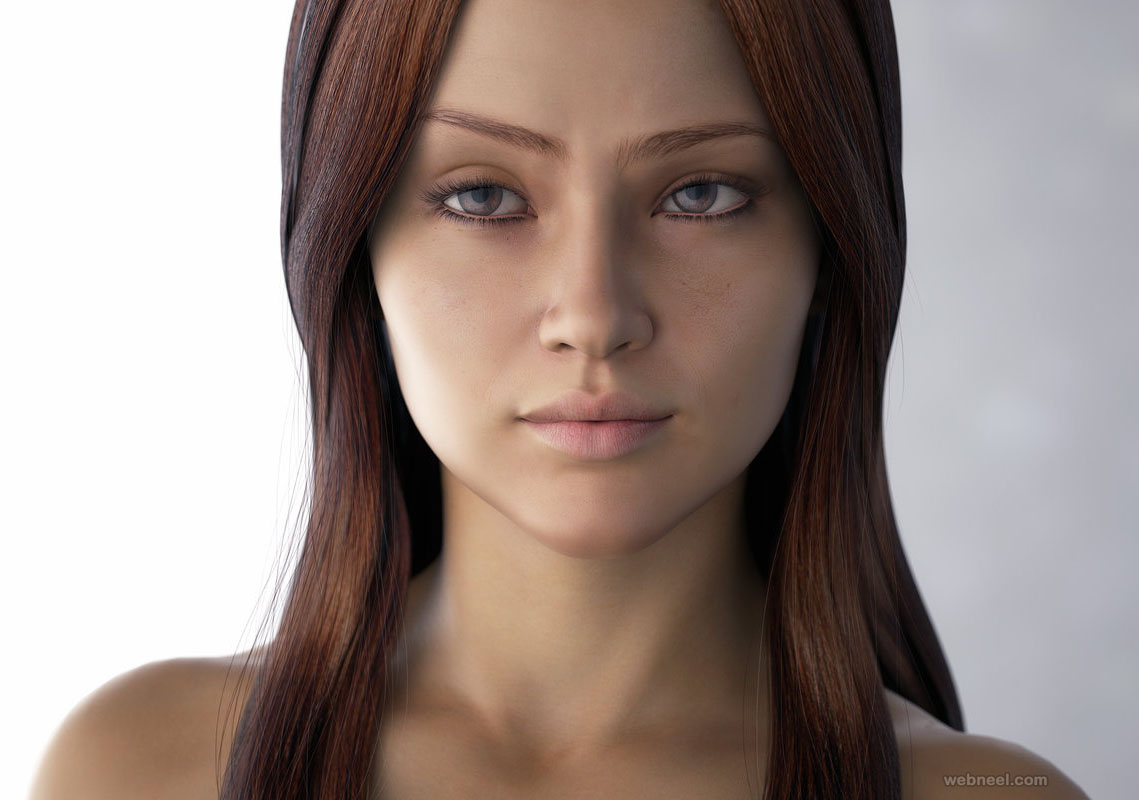 3d girl model design by laticis