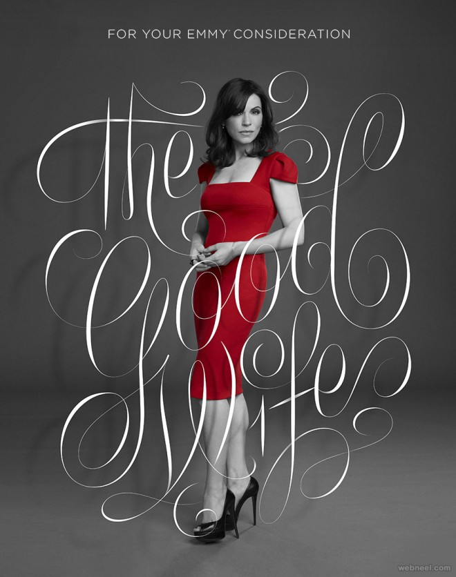 the good wife typography design by erikmarinovich