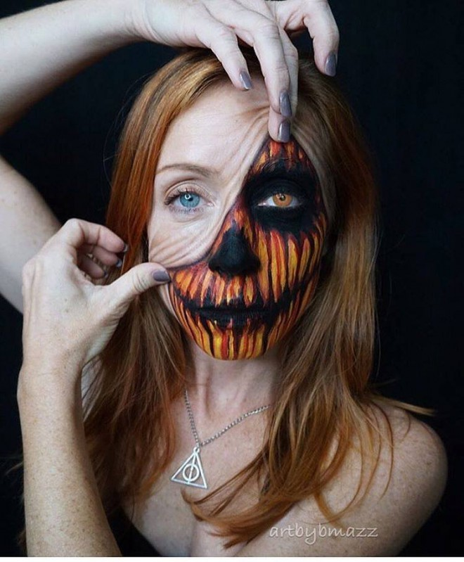 halloween makeup idea face painting by brenna