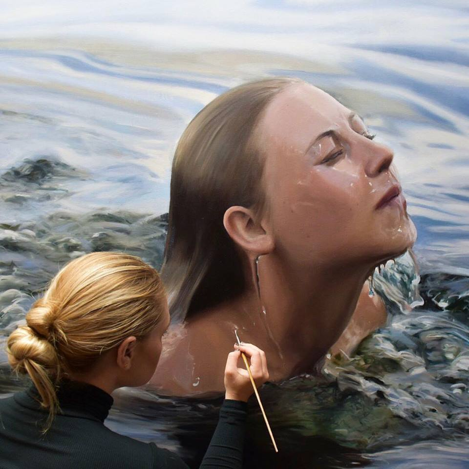 realistic painting by reisha perlmutter