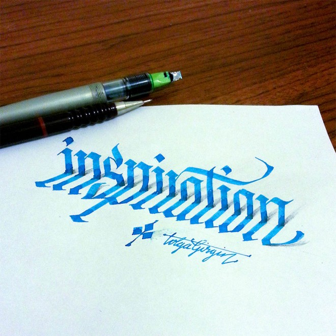 inspiration 3d calligraphy by tolga girgin