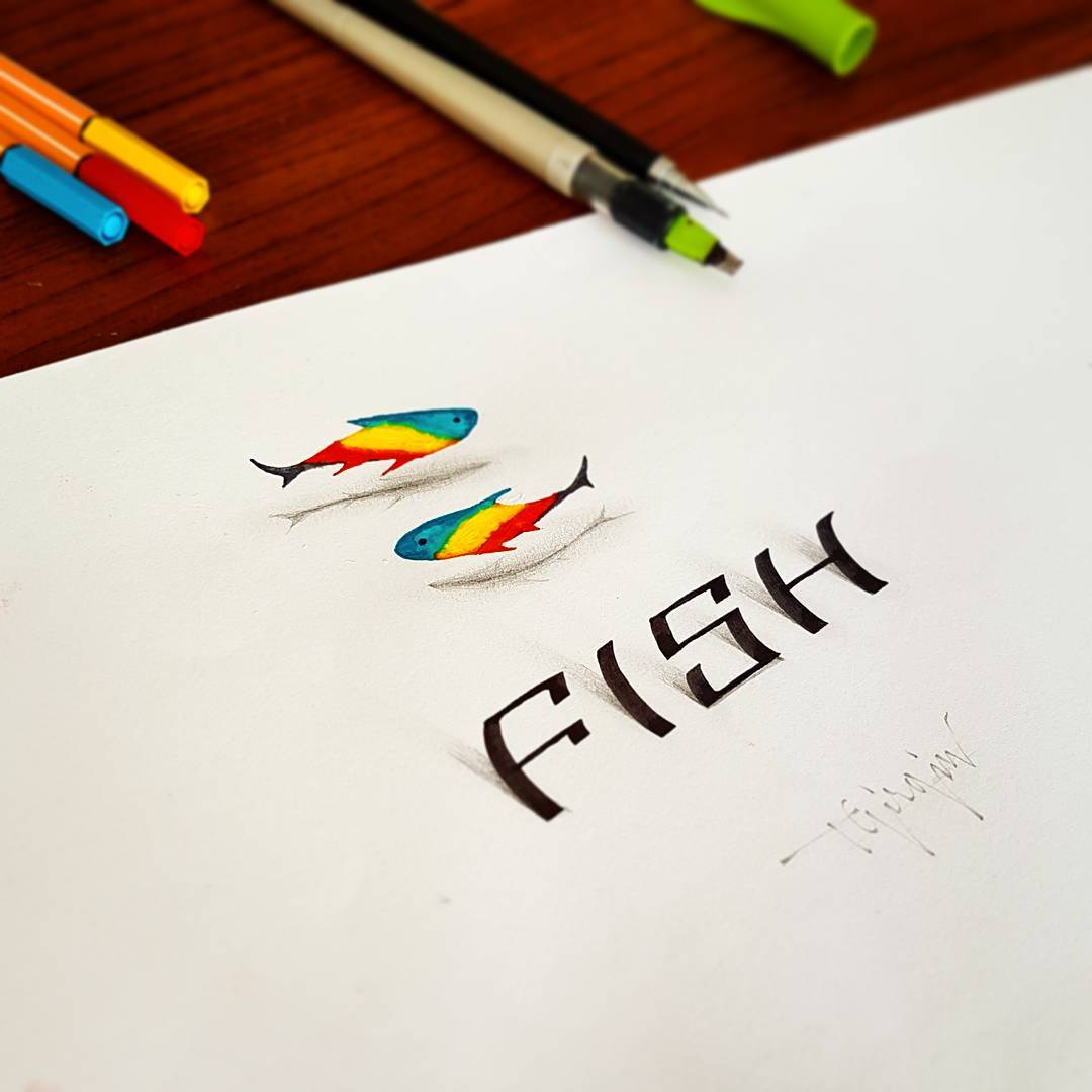 15-fish-3d-calligraphy-by-tolga-girgin