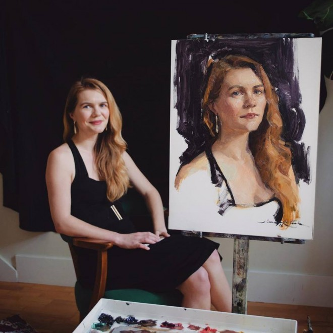 woman portrait paintngs by jane radstrom