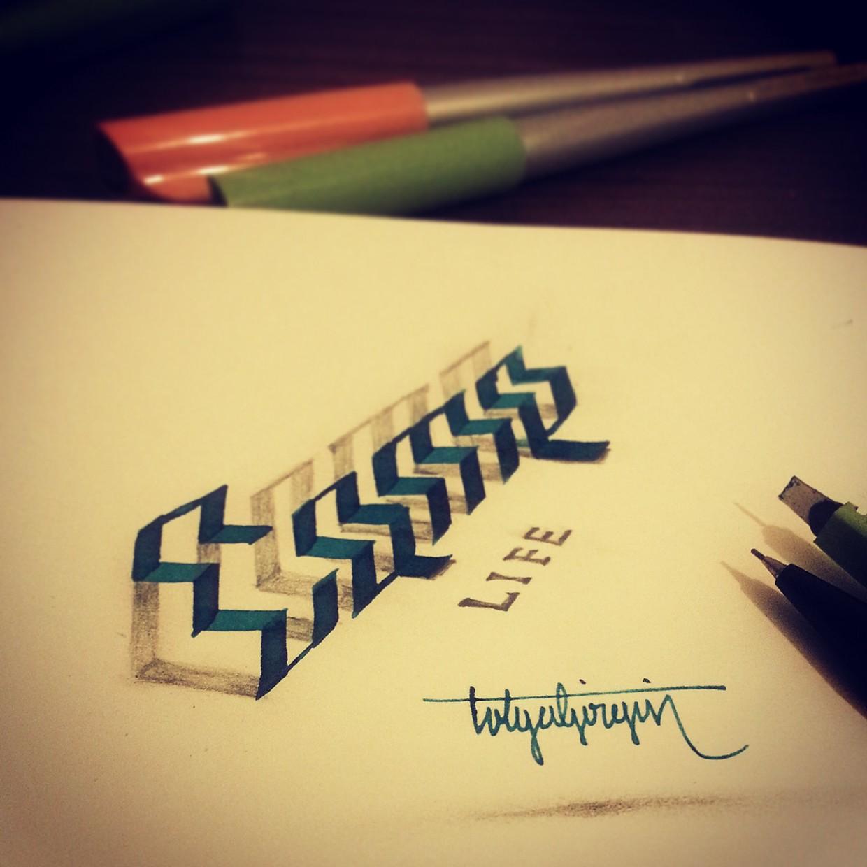 2-life-3d-calligraphy-by-tolga-girgin