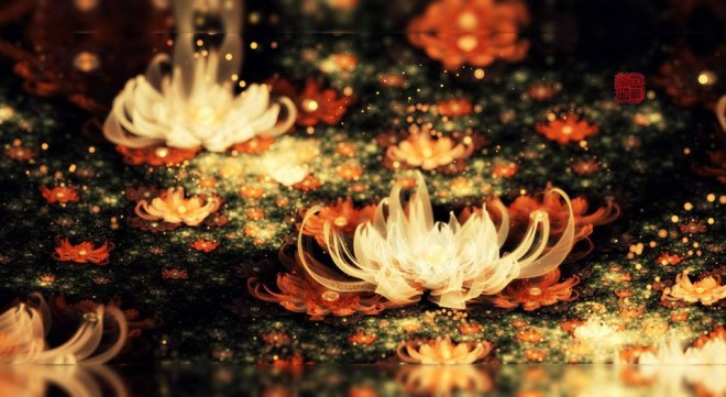 flower digital art by fractist