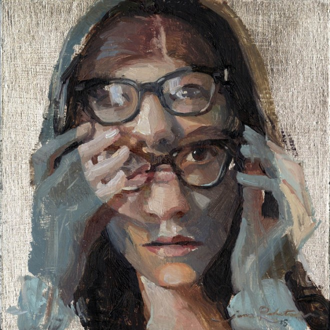 illusion portrait paintngs by jane radstrom