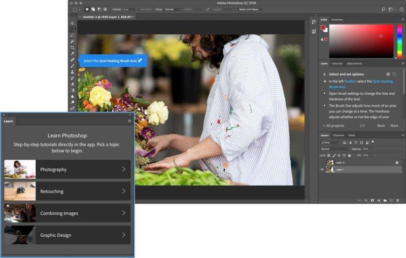 beginners teach adobe photoshop