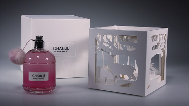 perfume packaging design by charlie