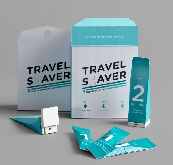 travel shaver packaging design