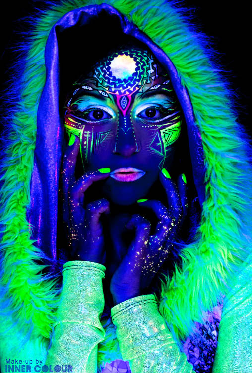 award winning uv body painting by andra