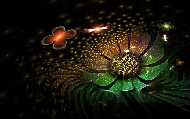 flower digital art by fractist