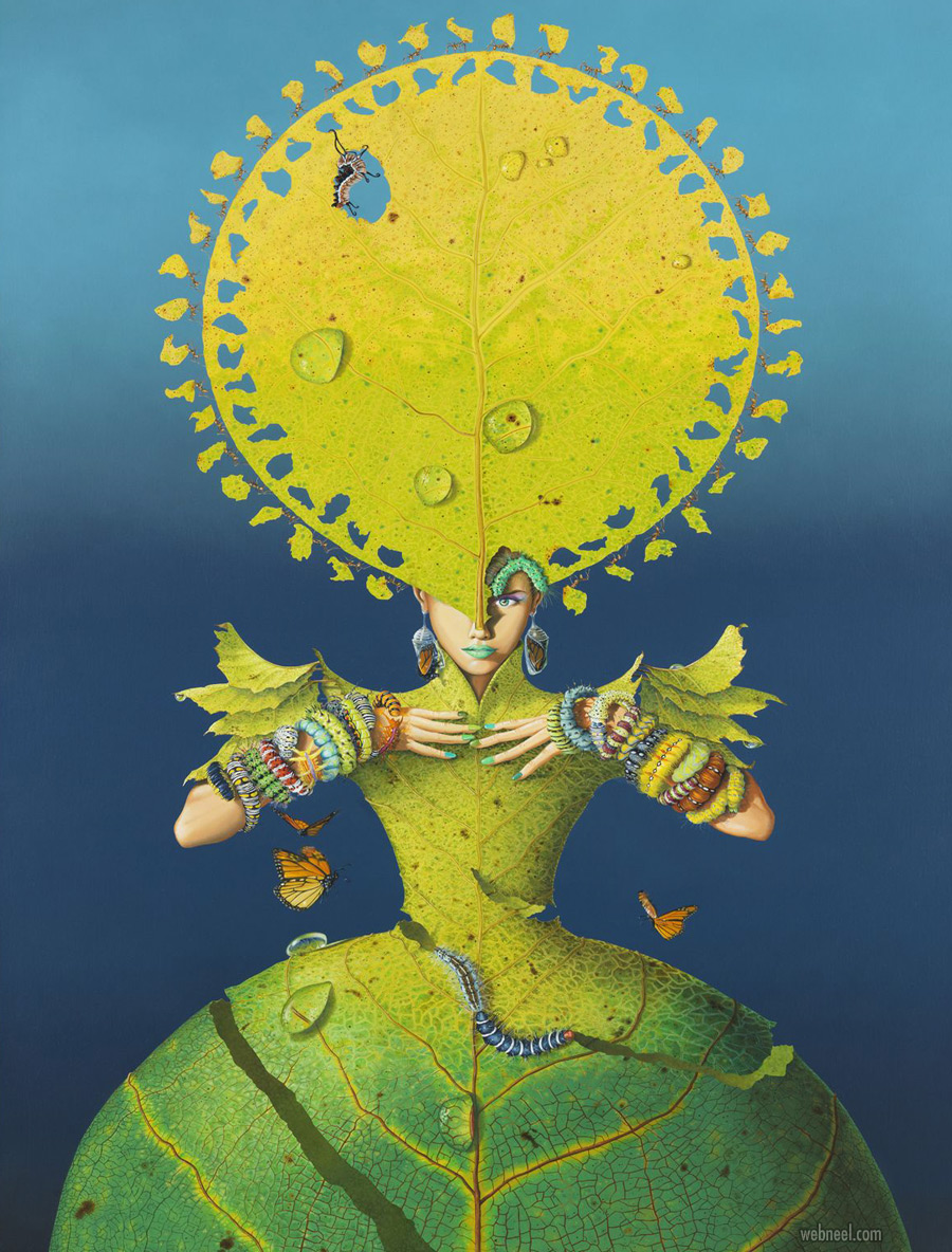 surreal painting artwork plant by nil gleyen