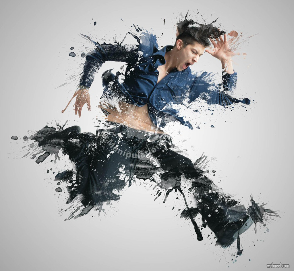 photo manipulation paint splash effect by witselcarry