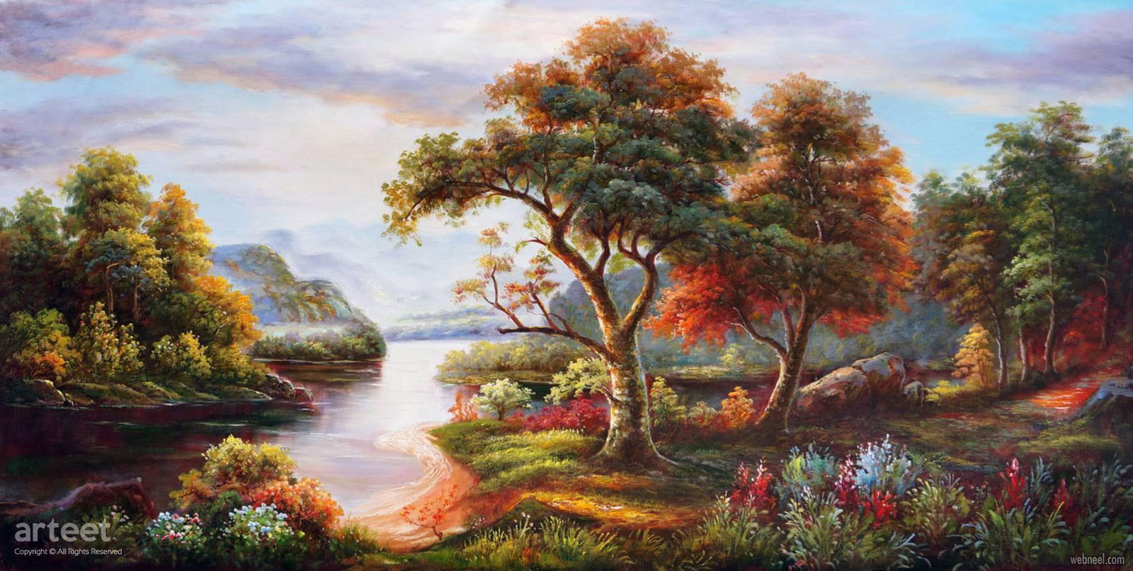 landscape artwork oil painting scenery