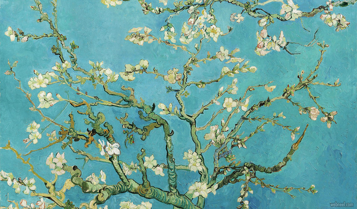 famous oil paintings almond blossoms