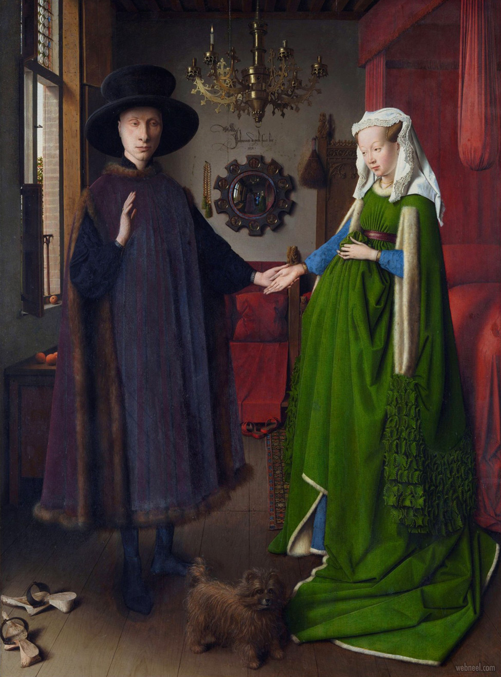 famous oil paintings arnolfini by jan van eyck