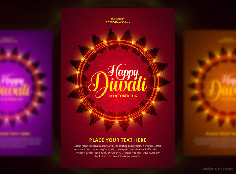 diwali greeting card by mohammed shahid