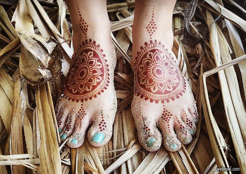 mehndi design leg foot by darcy vasudev