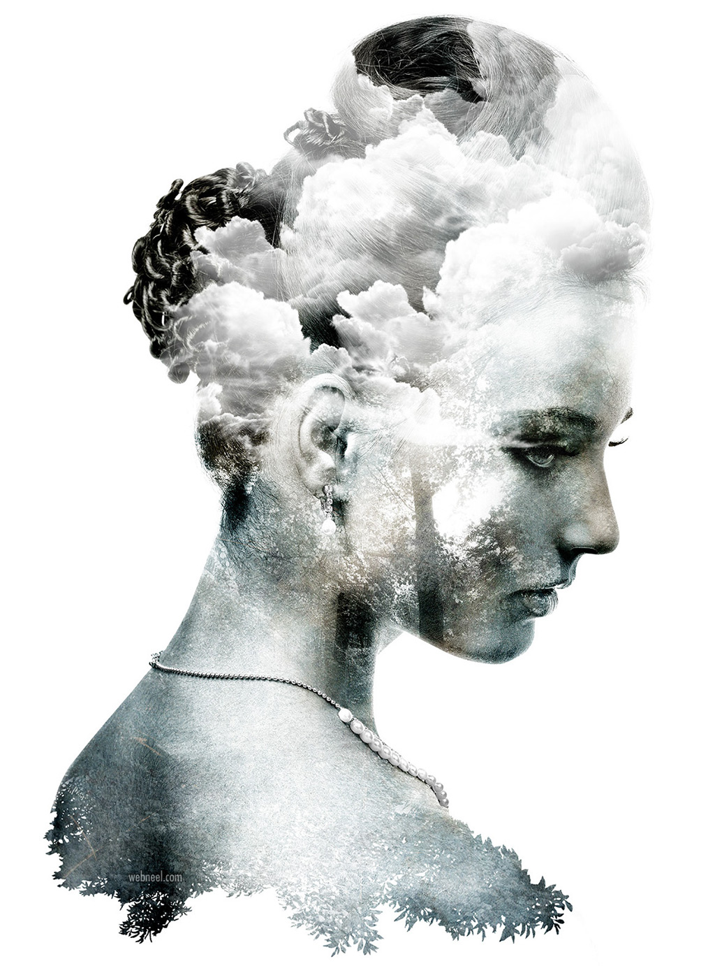 photo manipulation double exposure by emi haze