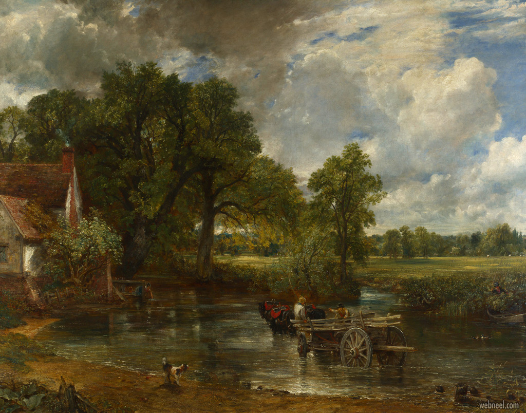 famous oil painting hay wain by john constable