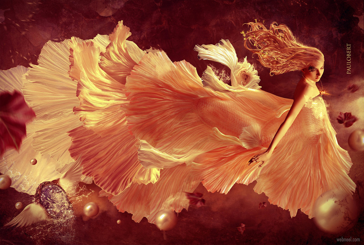 photo manipulation fish woman by paulobert