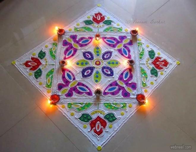 diwali rangoli design by poonam borkar