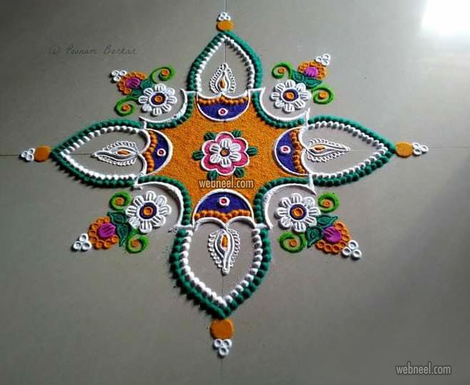 rangoli design by poonam borkar