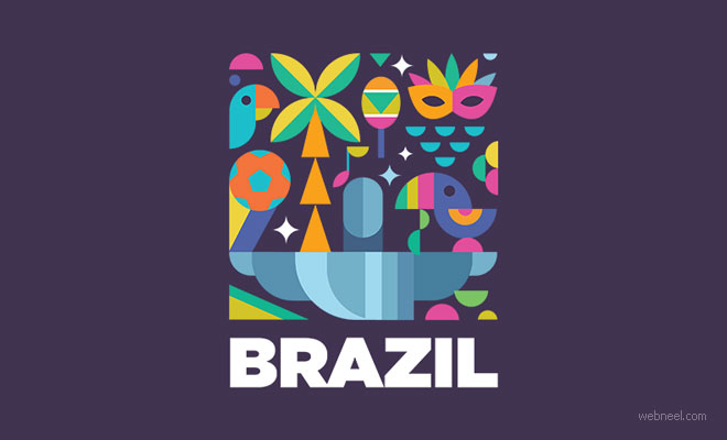 logo design colorful brazil