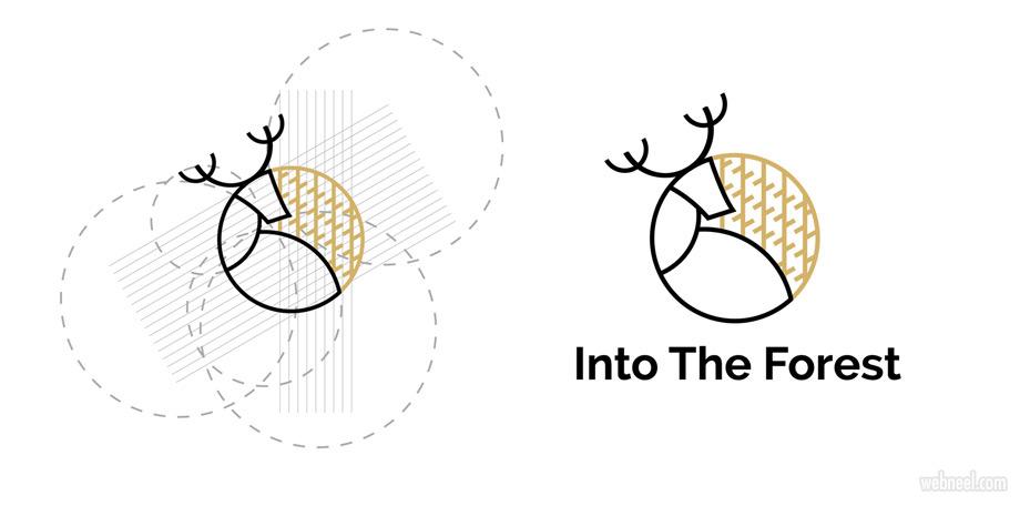 branding design forest deer