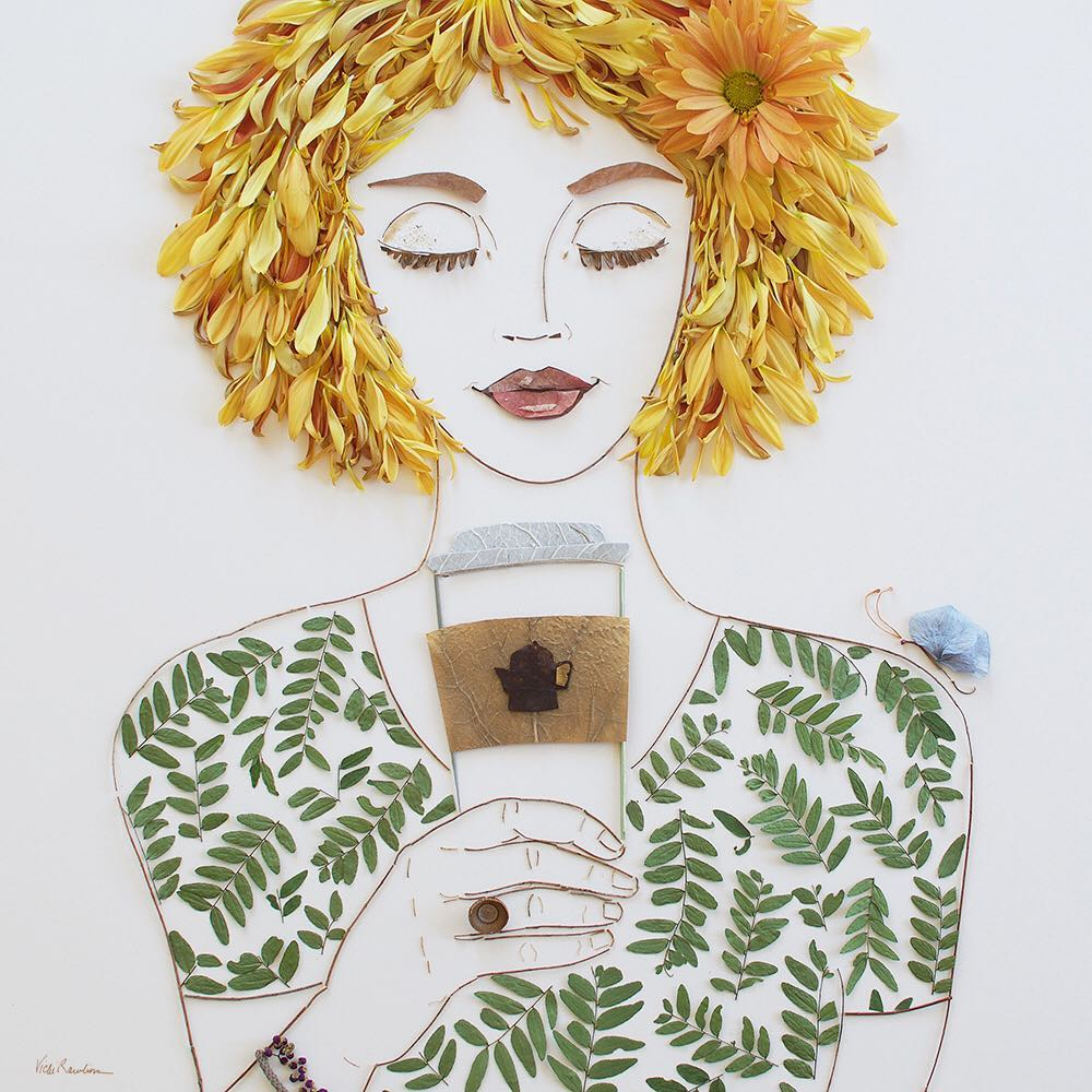 phone flower art portrait by vicky brooke