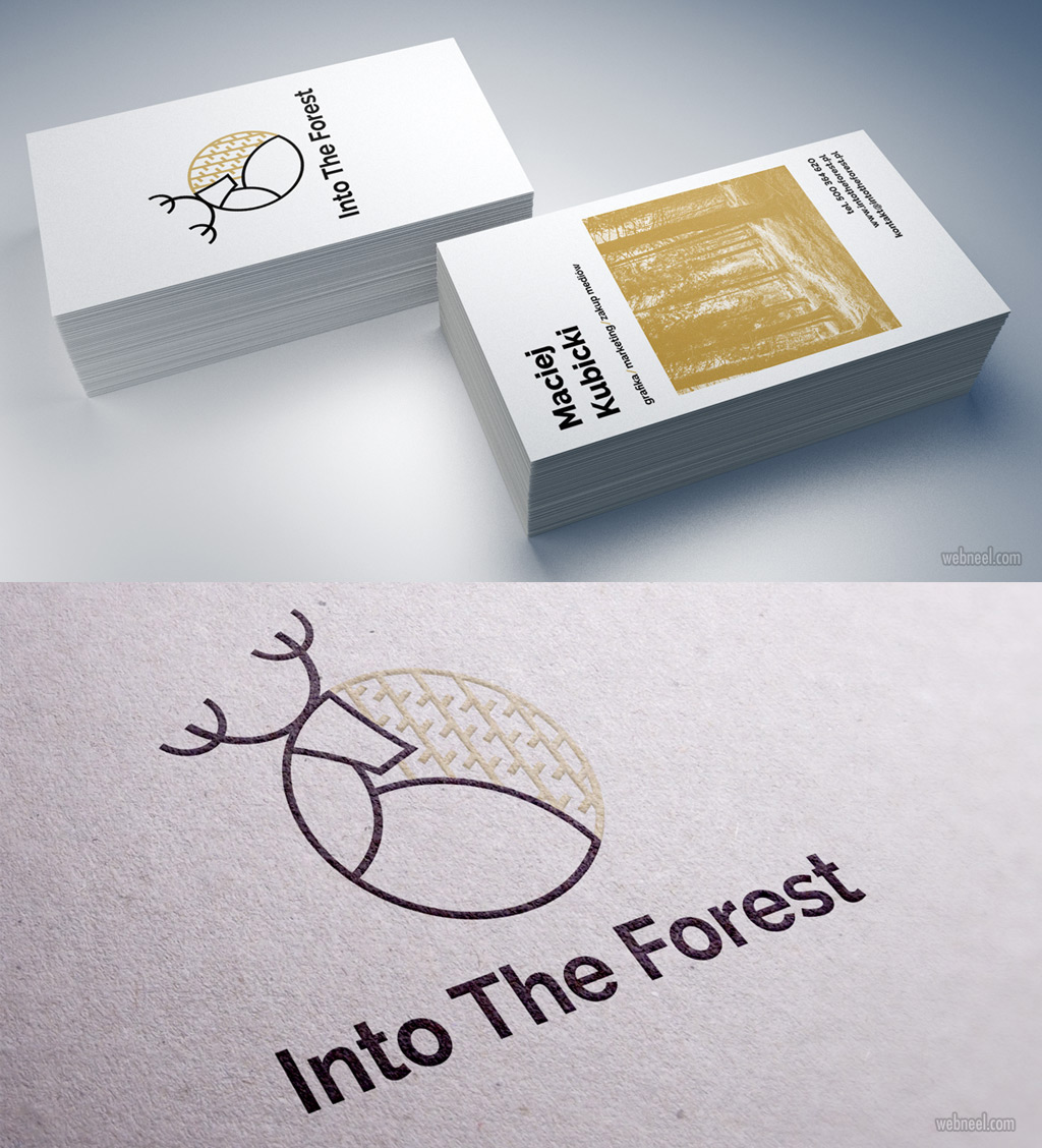 branding design forest deer by maciejkubicki