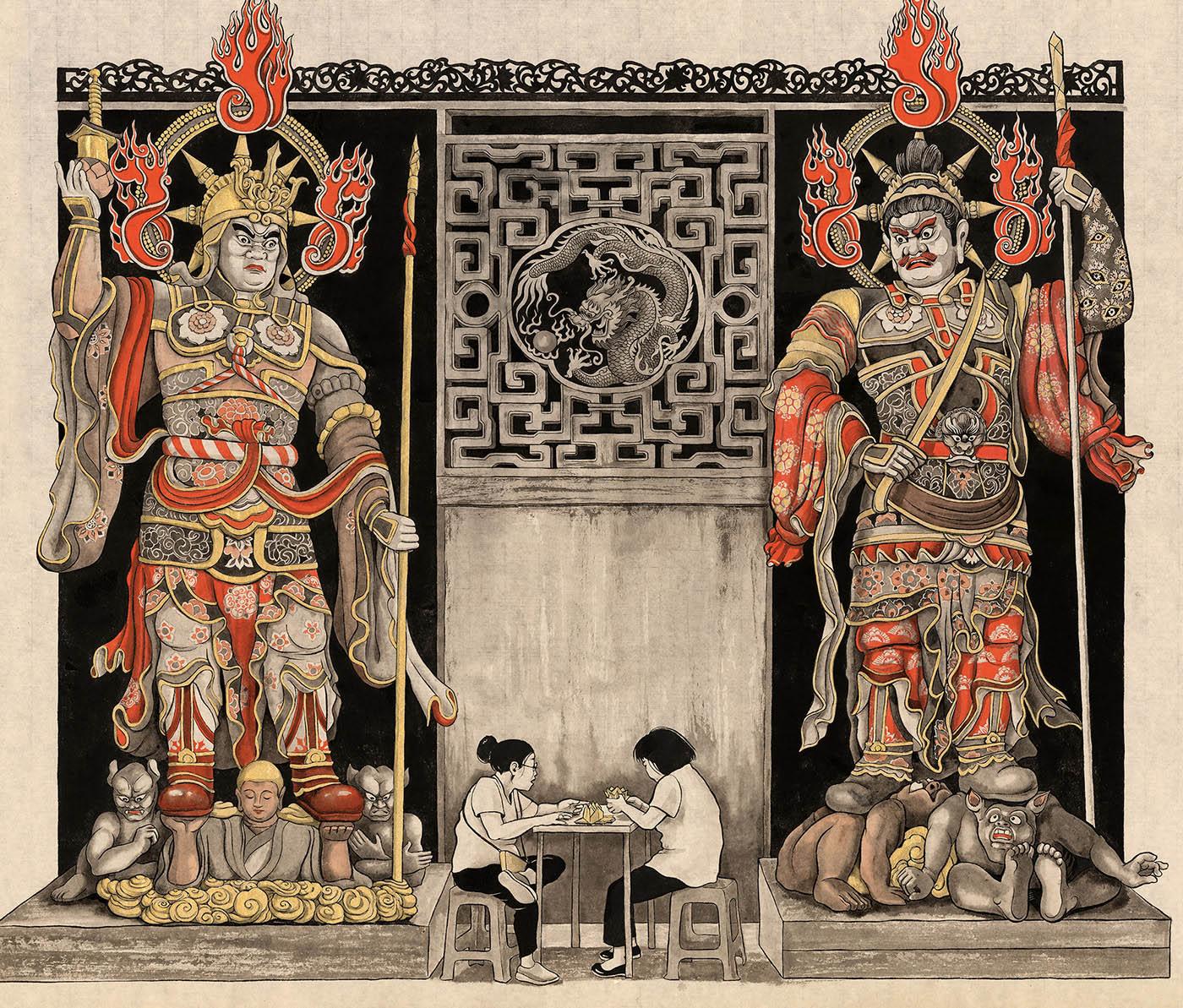 shanghai drawing by sveta dorosheva