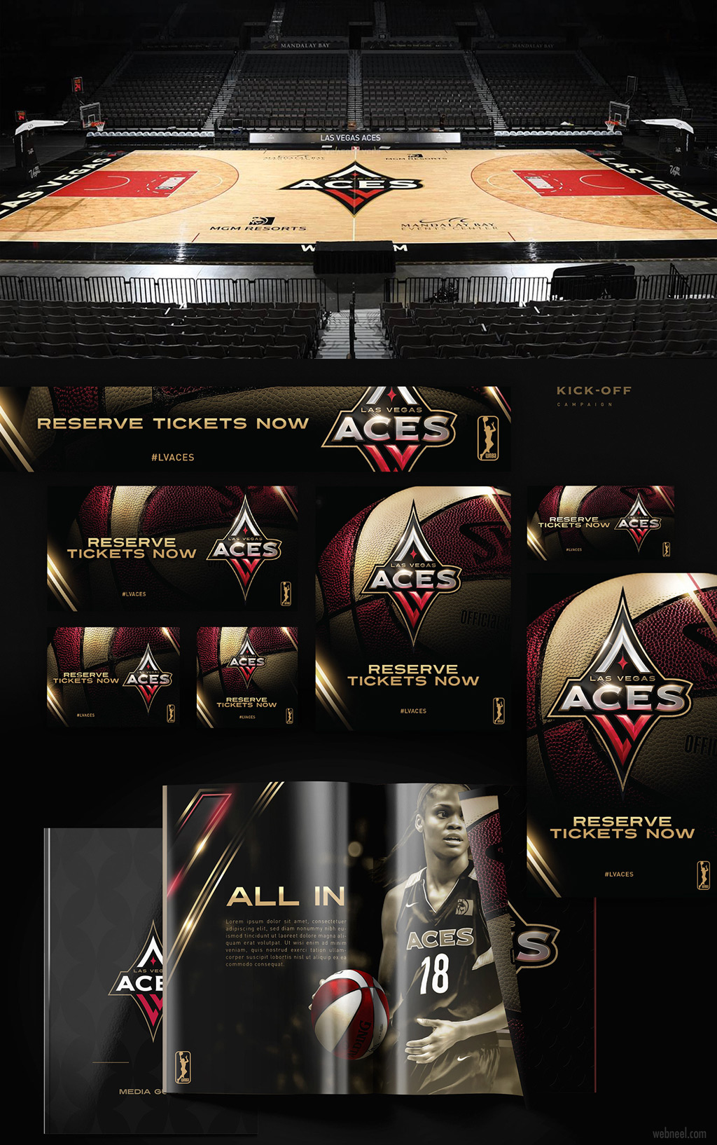 branding design las vegas aces by brianbollig