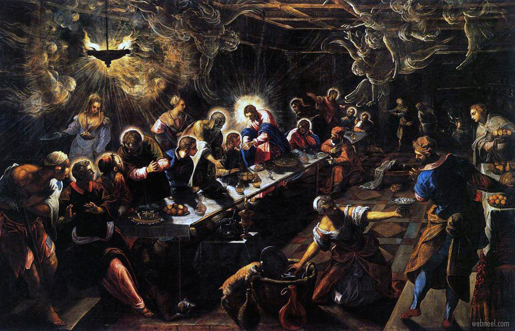 famous oil painting last supper