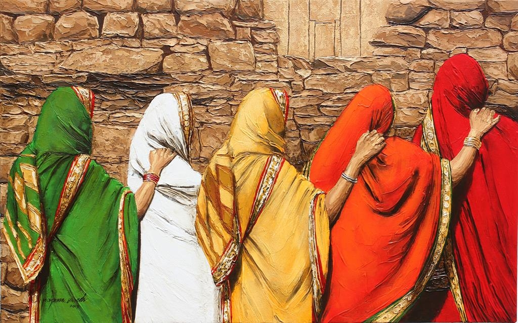 painting women by ramasuresh