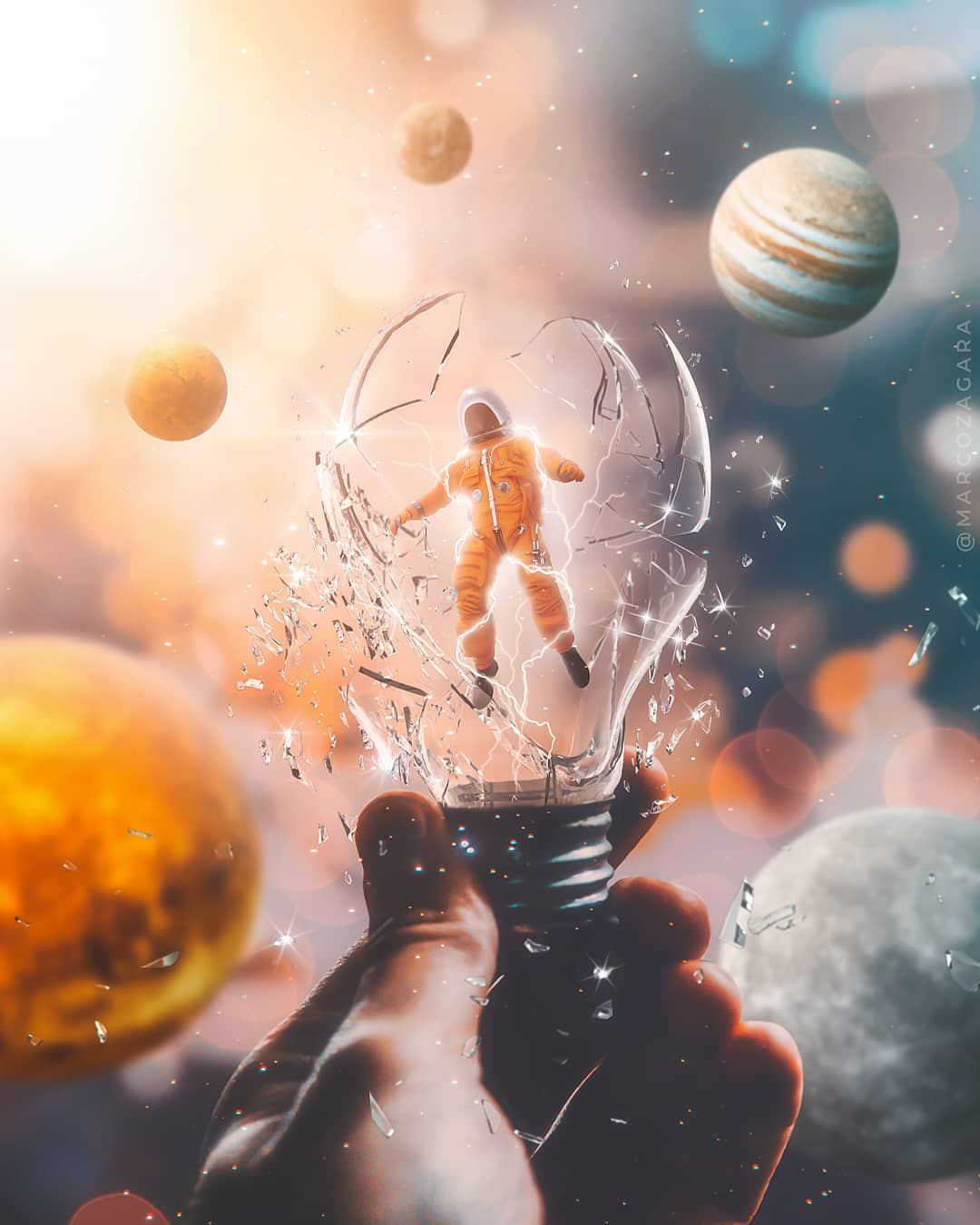photo manipulation bulb by marco zagara