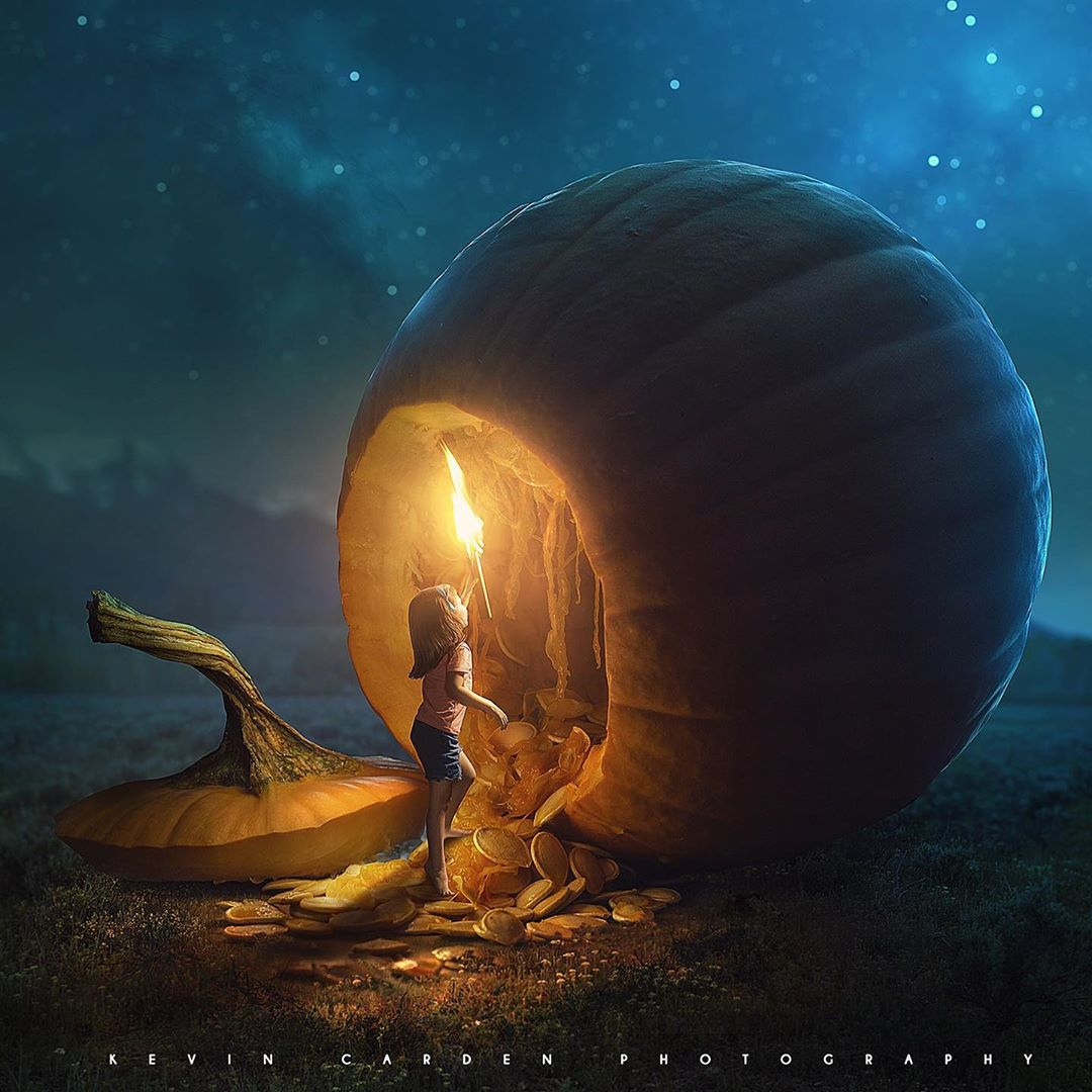 photomanipulation pumpkin by christian